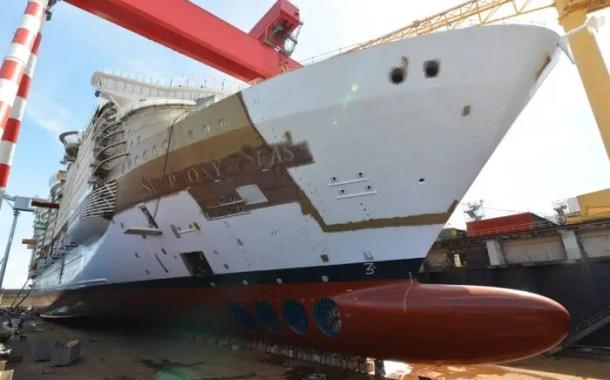 Symphony of the Seas finaliza construção de exterior