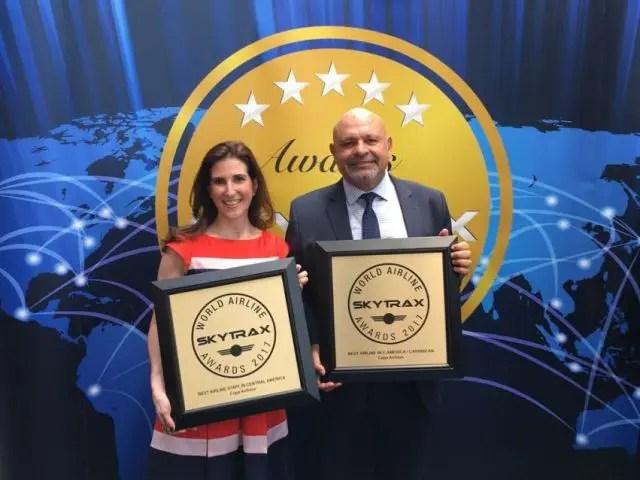 Copa Airlines é duplamente premiada pela Skyrtax