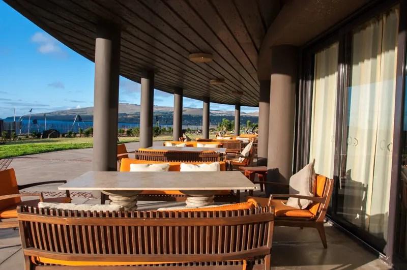 Restaurante Poerava: vista para o Oceano Pacífico