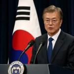"""Presidente sul-coreano diz que Trump merece """"grande"""" crédito por conversas com Coreia do Norte"""