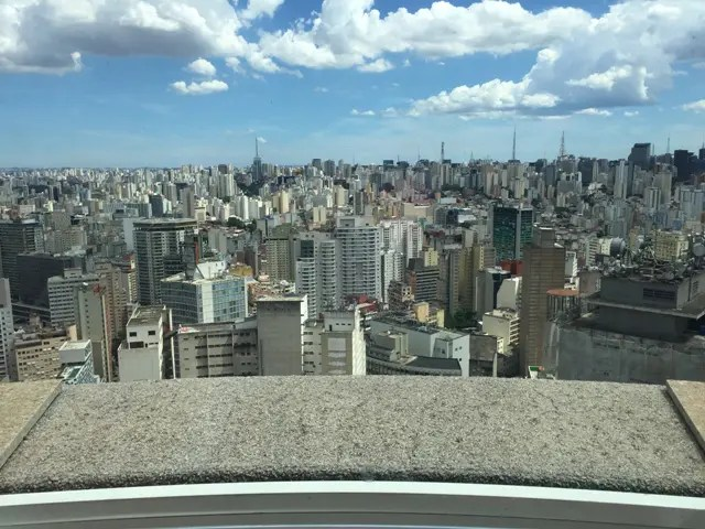 Vista panorâmica da cidade de São Paulo no Terraço Itália (Crédito: DT/Lucas Kina)