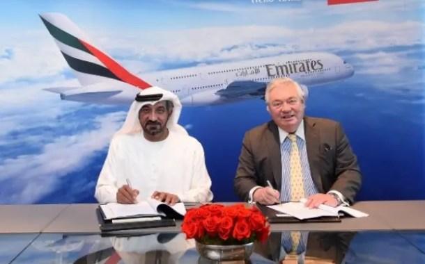 Emirates assina acordo e prevê aumento de até 36 aeronaves em sua frota A380