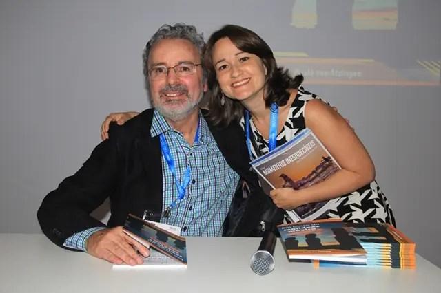 O autor com a jornalista Heloisa Cestari