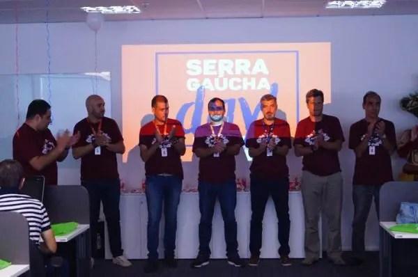 Os colaboradores da Flytour MMT Viagens durante o Serras Gaúchas Day