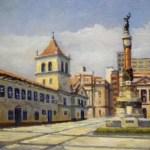 Exposição exibe pinturas da arquitetura de São Paulo, no Estação Cultura