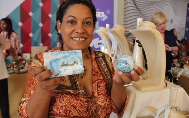Larimar é a pedra semi-preciosa patrimônio cultural da República Dominicana