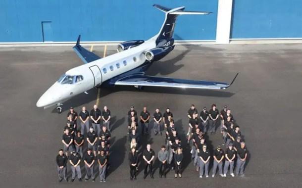 Em Melbourne (USA), Embraer entrega o 500º jato executivo Phenom 300