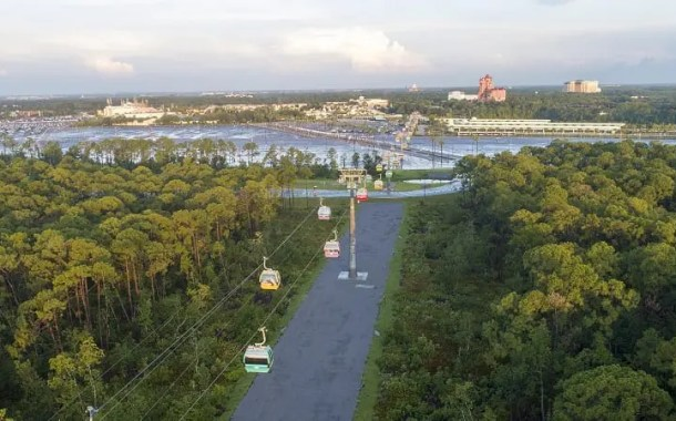 Disney Skyliner na Flórida, abre para o público em 29 de setembro