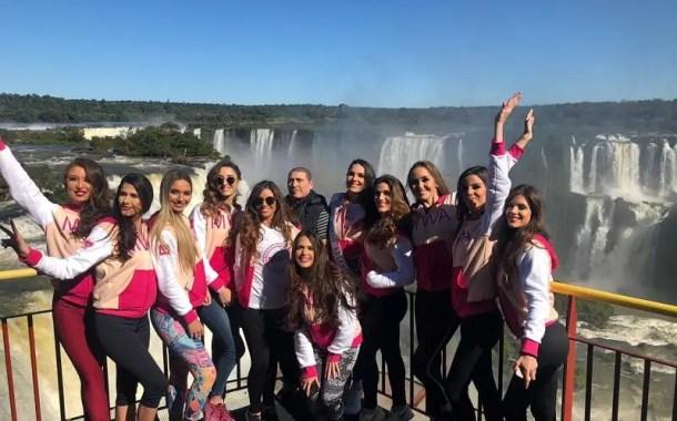 Candidatas do Miss Mundo Argentina visitam atrativos de Foz do Iguaçu