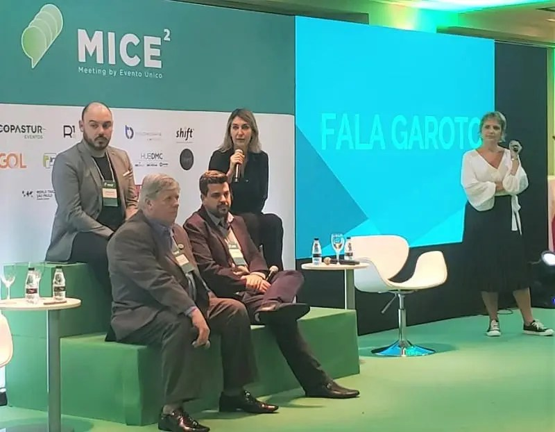Luciane Leite apresenta os bastidores da WTM Latin America no evento Mice²Meeting