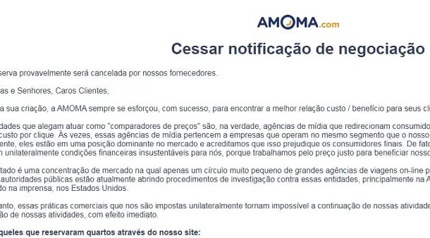 Falência de agência Amona.com tira o sono de viajantes e hotéis no Rio de Janeiro