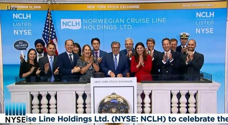 NCLH celebra o Norwegian Encore na Bolsa de Nova York