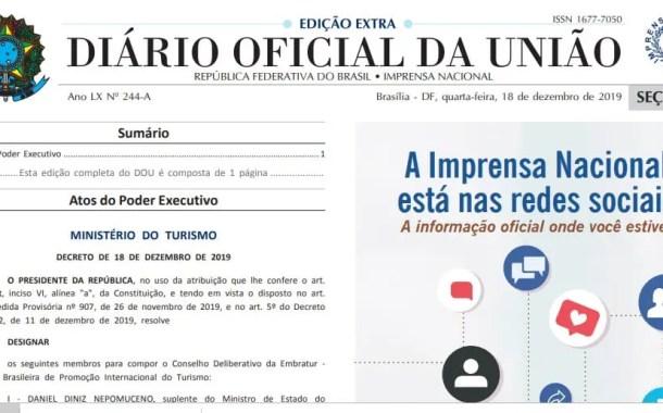 Bolsonaro designa membros do Conselho Deliberativo da Embratur (confira os nomes)