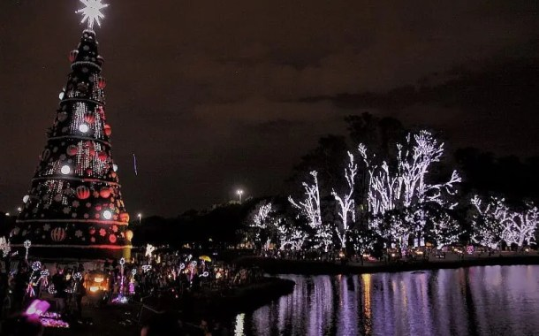 Árvore de Natal do Parque do Ibirapuera atrai milhares de pessoas