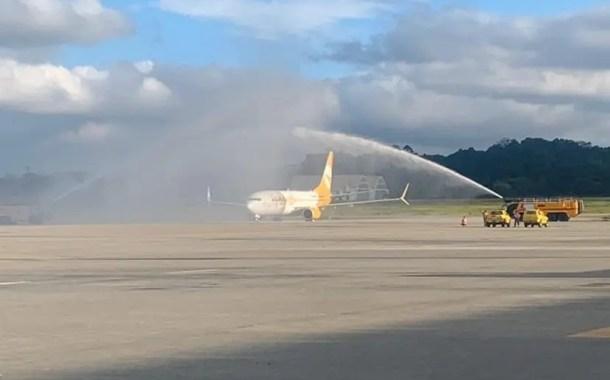 Primeiro voo da Flybondi chega a Guarulhos vindo de Buenos Aires