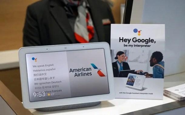 American Airlines testa intérprete do Google em suas salas vip