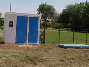 Uno de los nuevos pozos de agua.