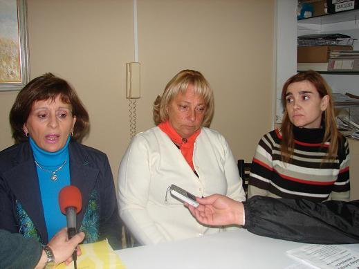 Elisa Novello, Alicia White y Anahí Brícola.