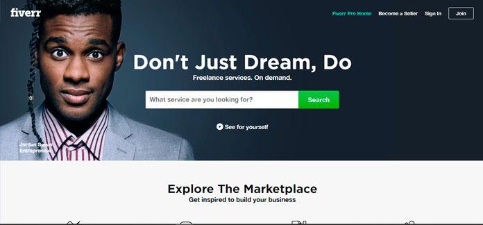 fiverr la plataforma para ofrecer servicios por 5 dolares