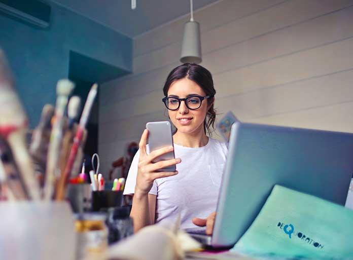 trabajando desde casa por internet