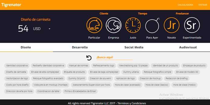 Tigrenator, la mejor calculadora freelance de latinoamerica