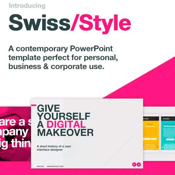 Swiss Styles plantillas de power point