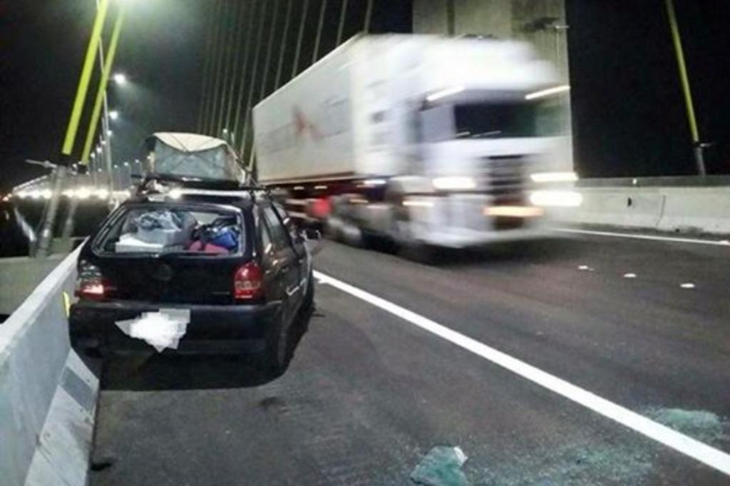 Ponte Anita Garibaldi, em Laguna, registra o primeiro acidente Daniel Fernandes/Arquivo pessoal