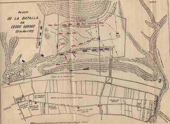 mapa batalla de Cerro Grande
