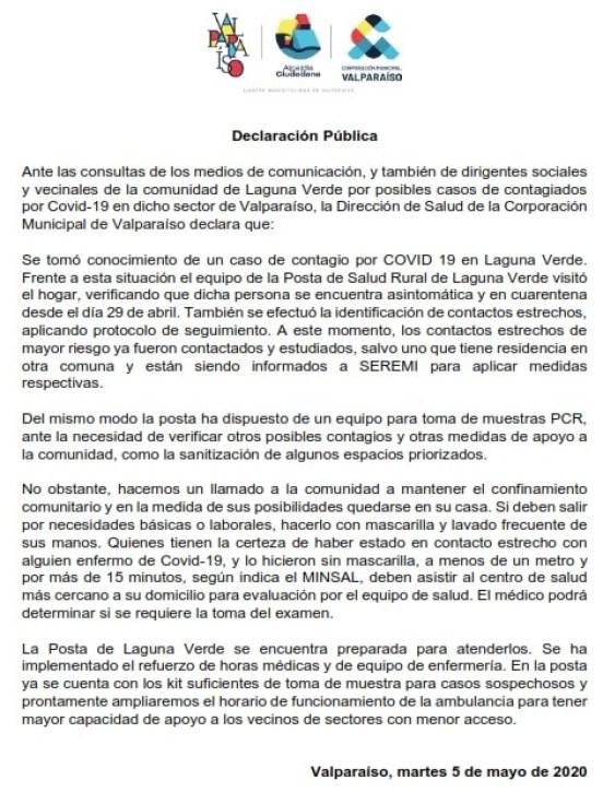 Declaración Pública x casos Covid 19 en Laguna Verde_001