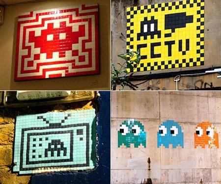 Para el artista callejero Invader, es un símbolo del principio del mundo en el que vivimos