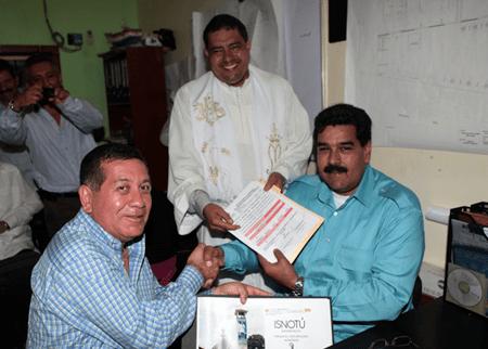 Maduro entregó ayuda para la culminación del templo del Venerable en Isnotú
