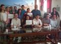 Los promotores de la actividad invitaron a la población a suscribirse al comunicado en rechazo a la violencia