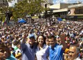 Multitudinaria fue la concentración este domingo en Caracas.