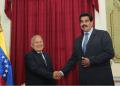 Los mandatarios de Venezuela, Nicolás Maduro, y de El Salvador, Salvador Sánchez Cerén, se dirigieron al Palacio de Miraflores