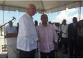 Rafael Ramírez, junto al primer ministro haitiano, Laurent Lamothe, realizaron este miércoles la declaración conjunta sobre acuerdos entre Venezuela y Haití