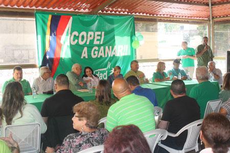 Solórzano se reunió con la dirigencia copeyana de los Altos Mirandinos