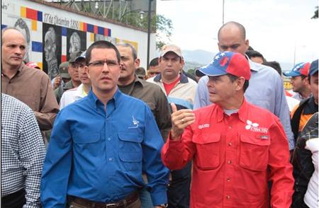 El vicepresidente de la república, Jorge Arreaza, afirmó que los puentes de la frontera se mantienen cerrados y son custodiados