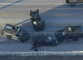 La policía estadounidense atrapó en un gigantesco operativo a uno de los sospechosos del tiroteo