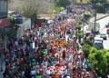 Unos 460 niños tomaron las avenidas y calles de la ciudad.