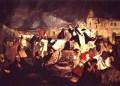 Inmortalización del terremoto de 1812 en el lienzo de Tito Salas.