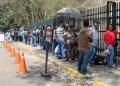 Este sábado las colas eran extensas en los tres municipios que conforman los Altos Mirandinos.