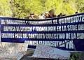Desde las 8 am, los empleados de la empresa estatal, protestaron en la panamericana