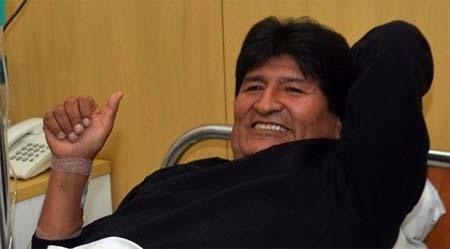 Luego de la intervención quirúrgica a la que se sometió Evo Morales, en la Habana, Cuba, deberá guardar reposo absoluto y no podrá hablar durante cuatro o siete días