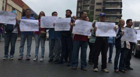 Protesta en centro de Los Teques