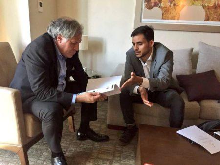 Diputado Armas entregó a Almagro propuesta de corredores humanitarios