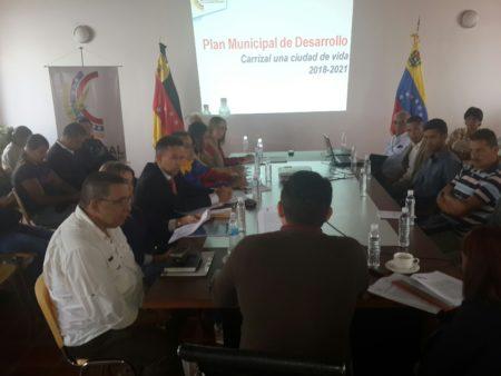 Presentación del Plan de desarrollo de Carrizal.