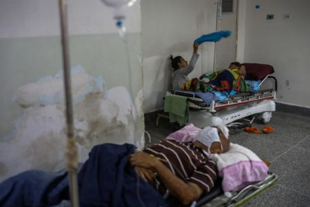 Hospitales venezolanos colapsados. Foto EFE