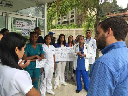 Protesta de enfermeras del Pronto Socorro