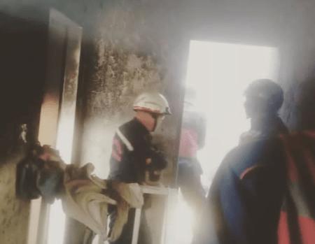 Vivienda se quemó en el sector Santa Eulalia