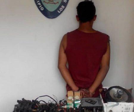 Lo capturan cuando hurtaba herramientasy repuestos de vehículos en Los Salias